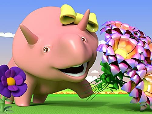 Muttertag: Blumen und Farben / Dino der Dinosaurier lernt Zahlen mit Gemüse / Formen lernen beim Spielen mit einem Spielzeugkran / Das Alphabet lernen mit Dino und Dina