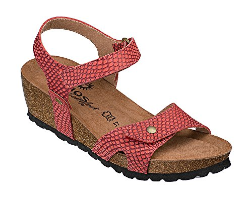 COSMOS Comfort Damen Sandale 6110-802 (39 EU, 5 Rot)