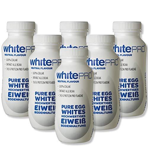 whitePRO™ Flüssiges Eiklar 10x220 ml Flaschen – 24 g reines Eiweiß pro Flasche
