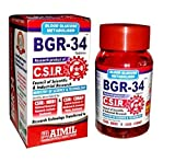 600 BGR-34 TABLETS (6 PACKs) 100% NATURAL HERBAL Blood Glucose Metaboliser Research product of C.S.I.R. by Artcollectibles India