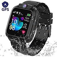 GPS Reloj Inteligente Niña Impermeable - Smartwatch Niños Localizador GPS Niños, Pulsera Inteligente Reloj Inteligente Niña Regalo, con Llamada Telefónica SOS Juegos Despertador GPS Tracker Podómetro