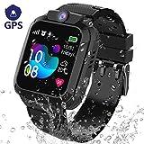 GPS Tracker Smartwatch Enfants Etanche - Montre Intelligente Téléphone pour Enfants Garçons Fille...