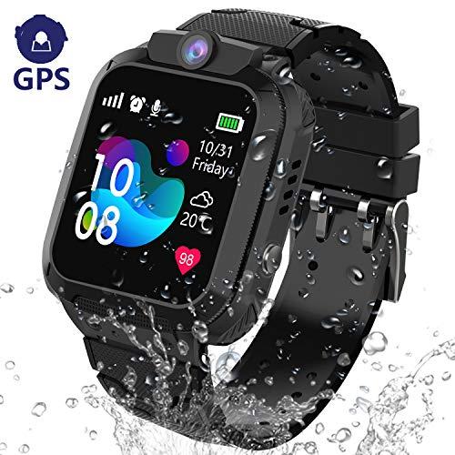 GPS Tracker Smartwatch Enfants Etanche - Montre Intelligente Téléphone pour Enfants Garçons Fille Etudiant,...