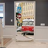 Kreatives Design Kunst Tür Poster Selbstklebende
