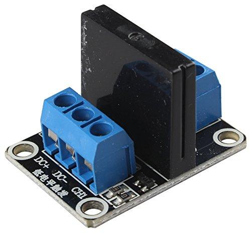 HALJIA 1 canal 5 V módulo de relé de estado sólido con resistiva Fusible Compatible con Arduino UNO Duemilanove MEGA2560 MEGA1280 ARM Raspberry Pi DSP PIC