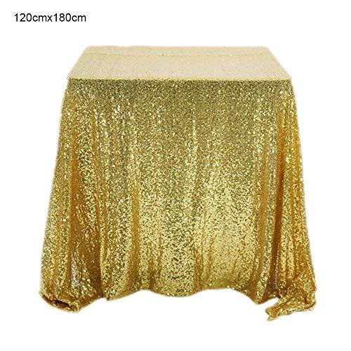 Mantel de Lentejuelas de Oro Cuadrado Mantel de Brillo Dorado Brillante Manteles de Banquete Manteles para Fiesta de Boda Decoración de cumpleaños