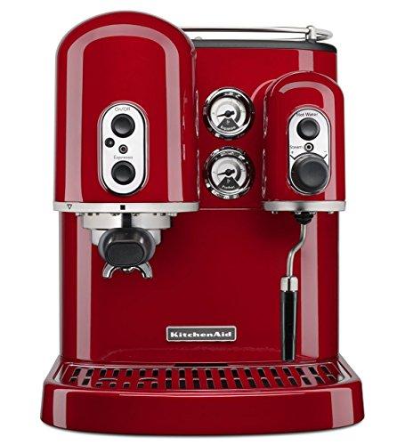 KitchenAid 5KES2102EER Espressomaschine Artisan Onyx, Empire Rot