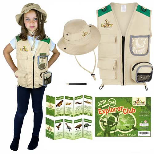 Kids Explorer Costume including Safari Vest and Hat - Perfect gift for...