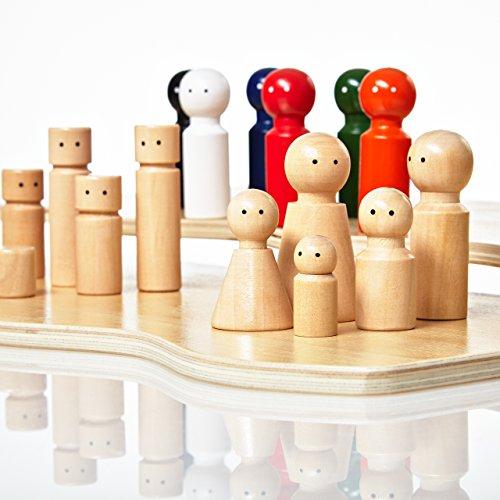 Lumaland Jeu pédagogique pour la Formation et la THÉRAPIE FAMILIALE Constellations Famille et Systémique avec 32 Figurines en Bois