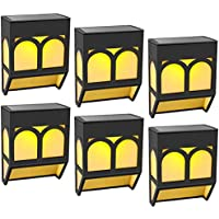 6-Pack EAUOH Solar Outdoor Decorative Waterproof LED Deck Lights Fence Solar Powered Step Lights