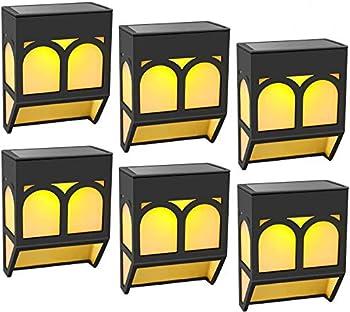 6-Pack EAUOH Solar Outdoor Decorative Waterproof LED Deck Lights
