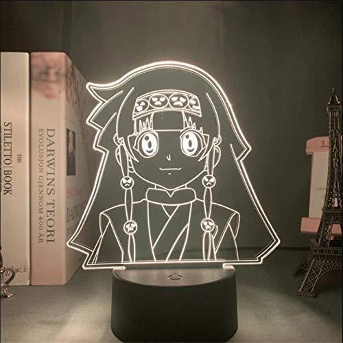 3D Nachtlicht für Kinder Anime Mädchen Alluka Zoldyck Lampe Hunter X Hunter 3D LED-Nachtlicht für Kinder Schlafzimmer Dekor Lampe Eren Weihnachtsgeschenke Geburtstag Spielzeug TischLampe 7 Farb-Touch