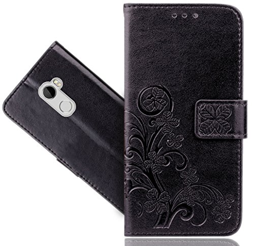 HTC One X10 Handy Tasche, FoneExpert® Blume Wallet Hülle Flip Cover Hüllen Etui Hülle Ledertasche Lederhülle Schutzhülle Für HTC One X10