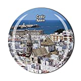España 3D Cádiz Refrigerador Imán de Cristal Imán de Cristal Imán de Viaje Turístico Colección Regalo Etiqueta Magnética Decoración de la Cocina