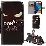 Ooboom® Samsung Galaxy S7 Hülle Flip PU Leder Schutzhülle Handy Tasche Hülle Cover Wallet Standfunktion mit Kartenfächer Trageschlaufe für Samsung Galaxy S7 - Don't Touch My Phone