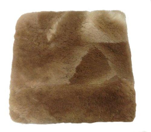Alpacaandmore Brauner Alpaka Fellkissen Kopfkissen Bezug (40 x 40 cm)