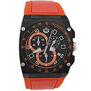 Savoy Icon Extreme - Chrono - Black - Orange Strap Men's Watch Check Prices and Order Now!! and review image