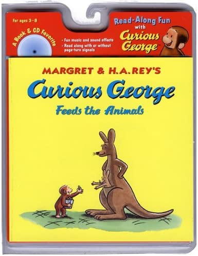 Curious George Feeds the Animals Book CD Read Along Book CD product image