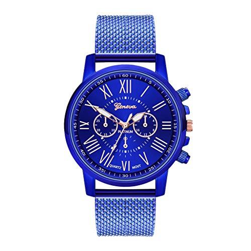 JZDH Relojes para Mujer Reloj de Las Mujeres de Cuarzo Silicone Strap Womens Wristwatch Girls Bracelet Reloj Relojes de Las señoras Relojes Decorativos Casuales para Niñas Damas (Color : A)
