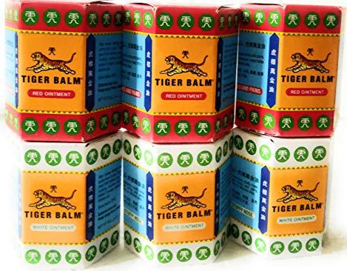 6 barattolo di balsamo di tigre 30g = 3 rosso e 3 BIANCO