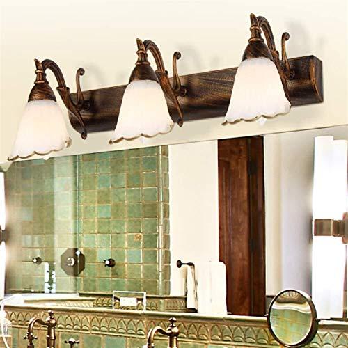 KANJJ-YU LED E14 Aplique Espejo Lámpara Pared de Espejo Lámpara de baño...