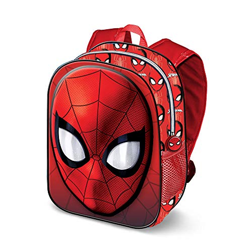KARACTERMANIA Spiderman Spiderweb-3D Rucksack (Klein) Zainetto per bambini, 31 cm, 8.5 liters, Rosso (Red)