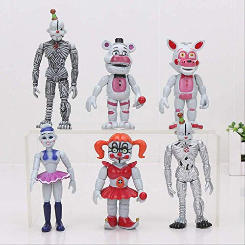FNAF Five Nights At Freddy'S Figura De Juguete 10Cm, Sister Location Chica Mangle Foxy Ballora Puppet Freddy Fazbear Bonnie Dolls Toys 10Cm C
