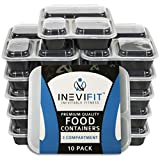 #1 FITNESS MEAL PREP SET: Your INEVIFIT Portion Control set comes in a 10 Pack of leak resistant, airtight containers with lids that are the perfect investment for multi-day meal planning and staying on top of your nutrition. Our high grade & durable...