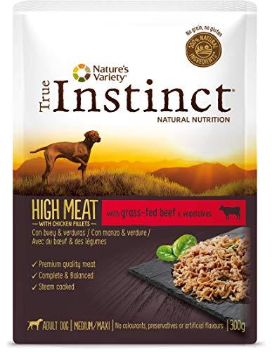 True Instinct High Meat Wet Adult Medium Maxi - Nature's Variety - Paté con Buey Y Verduras para Perros Medium Y Maxi - 8 X 300G - Total 2,4Kg