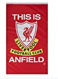Liverpool FC This is Anfield Flagge – volle Farbe – Metallösen – ca. Liverbird, 90 x 152 cm