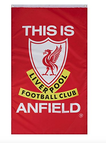 Liverpool FC This is Anfield Flag - Full Color - Metal Grommets - Approx. 3' x 5' - Liverbird -