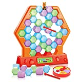 Gamie Save The Bee Game for Kids - Interactive Stacking and Tumbling Game - Educational Learning Toy - Great for Boys and Girls - Fun Indoor Activity for Children