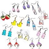 Weird Earrings Aesthetic Earrings Gummy Bear Earring Cool Earrings Quirky Earrings Cute Earrings Kawaii Earrings Funny earrings Crazy Earrings Set for Women Girls Egirl