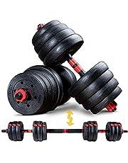 SPORTSTECH 2 in 1 innovatie halterset AH150 | korte halters & lange halters & lange halters | halters van 20kg, 30kg, 40kg set | veiligheidssluiting + extra lang verbindingsstuk 400mm | fitness voor mannen & vrouwen