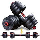 Sportstech Set di manubri Innovativo 2 in 1 AH150 | Manubri e bilancieri | Manubri Set da 20kg, 30kg, 40kg | Blocco di Sicurezza + connettore Extra Lungo 400mm | Fitness per Uomini e Donne (30 kg)