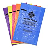 Bags on Board Dog Poop Bags | Strong, Leak Proof Dog Waste Bags | 9 x14 Inches, 140 Assorted Color Bags, Rainbow, (Model: 3203940044)