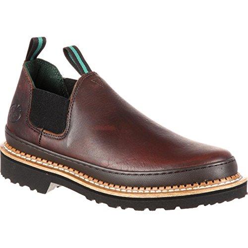 Georgia Giant Men's Romeo Slip-On Work Shoe,Brown,10 M