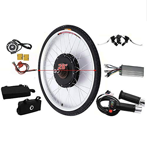 "MINUS ONE Elektrisches 28"" Fahrrad-Umbausatz E-Bike Conversion Kit Elektrofahrrad Kit Hinterrad Elektrofahrrad Motor Umbausatz (48V 1000W)"