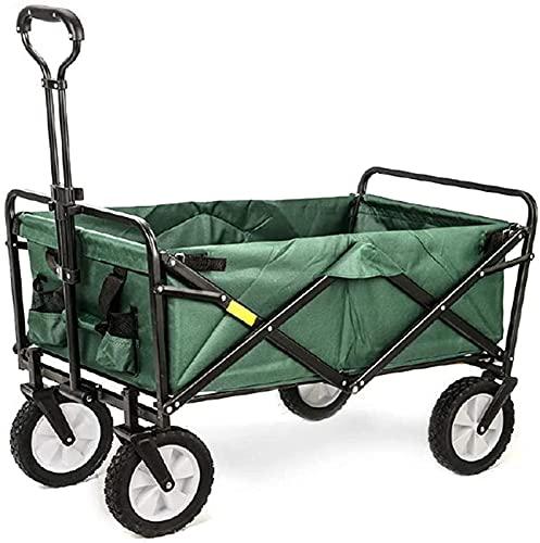 XQMY Garden Cart Trolley, Foldable Pull Folding Trolley Heavy Duty Hand Cart Festival Trolley for Outdoor