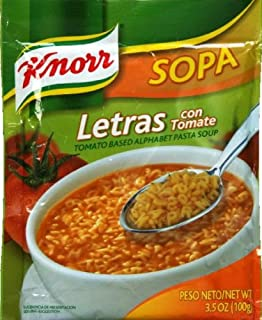 Knorr Pasta/Letters Soup 3.5 ounces. 3 Pack