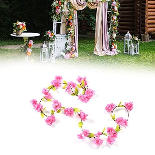 Flores de cerejeira artificiais, cordas de flores suspensas de flores artificiais multifuncionais para decoração de casamento para acessórios de fotografia para casa para festa para