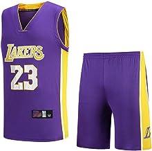 FSBYB Lebron James Lakers # 23 jerseyset voor heren met mesh en shorts, basketbaljersey