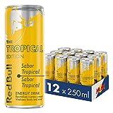 Red Bull Bebida energética, Tropical - 12 latas de 250ml. - Total 3000 ml.