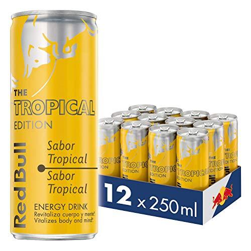Red Bull Tropical Bebida Energética - Paquete de 12 x 250 ml - Total: 3000 ml