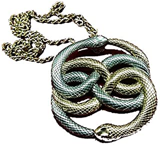 Neverending Story Large Bronze Auryn - Gold and Silver