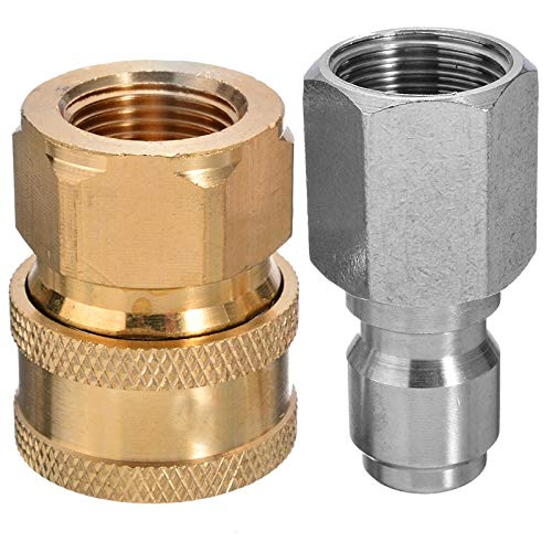 SHAOXI 3/8' Pressure Washer Coupling To Quick Release Coupling Male Female Probe Connector For Garden Watering Tools Garden Décor