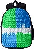 Esrdtrfytui Big Pop-on-it Backpack for Girl,Fidget Backpack for School,That's It Fidget Backpack for Girls/Teenagers,Small Fidgets for School (6 Style02, 12')