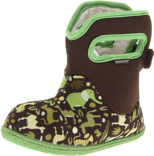 Bogs Baby Bogs Waterproof Insulated Toddler/Kids Rain Boots for Boys and Girls, Zoo Print/Green/Multi, 4 M US Toddler