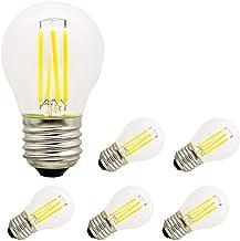 SGJFZD 12V 24V 36V Led Bulb E27 4W G45 Retro Edison Ball Bulb 2700k Warm White Lamp Bulb AC/DC12-36V for RV Camper Marine,...
