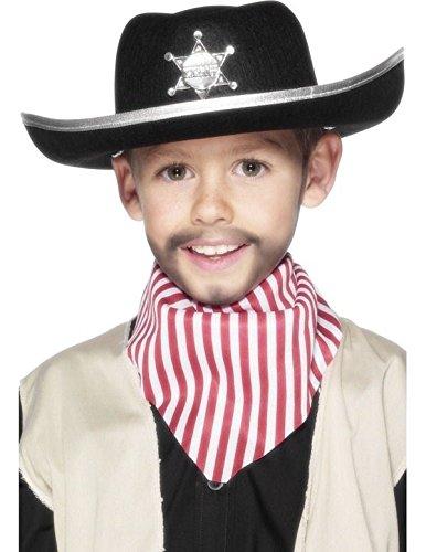 Enfant Sheriff Chapeau feutre Noir
